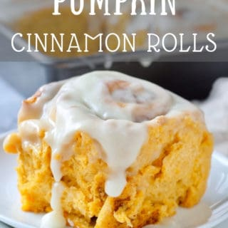 Homemade Pumpkin Cinnamon Rolls with a sweet cream cheese icing that can be frozen or made overnight. Makes 12 soft, fluffy rolls. Perfect for fall baking! #pumpkinrecipes #cinnamonrolls #homemadebread #fallbaking #holidaybaking #christmasmorning #weekendbaking #bakesale #bakerystyle #pumpkinbaking #holidayrecipes #christmasrecipes