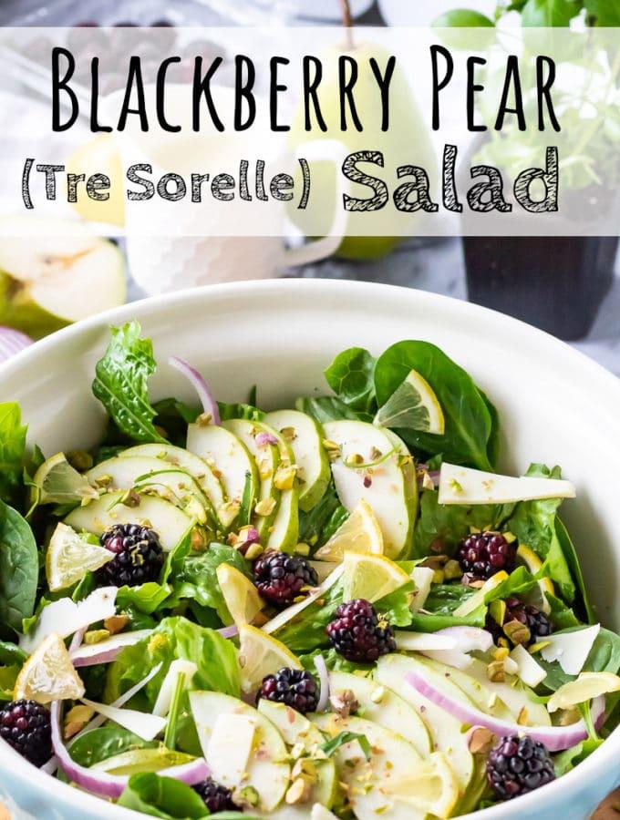 Blackberry Pear Salad