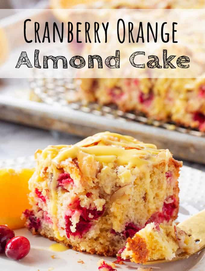 Cranberry Orange Almond Cake