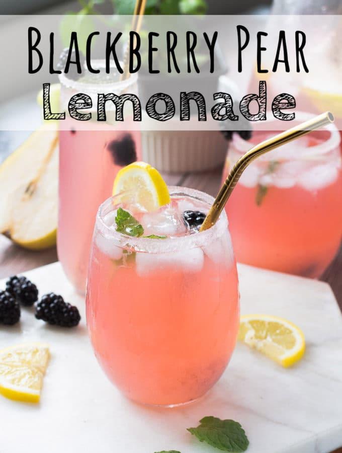Blackberry Pear Lemonade