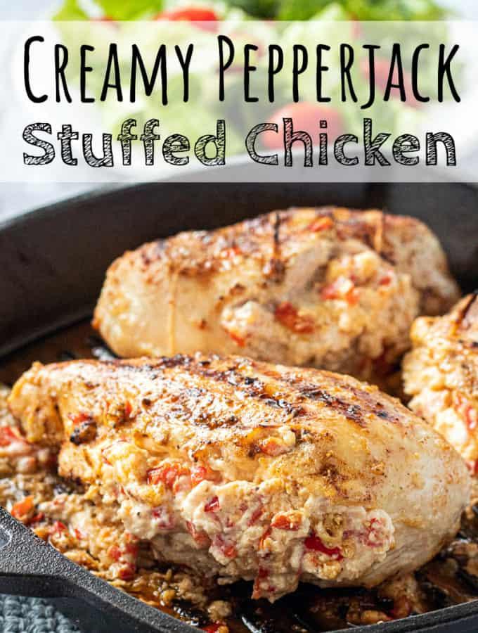 Creamy Pepperjack Stuffed Chicken Breast